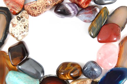 Each stone represents a chakra.